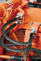 Hydraulic Hose bends for easy routing and space savings.