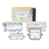 RF Power Amplifiers offer 0.5 MHz to 20 GHz frequency range.