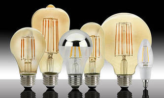 LED Lamps resemble Edison-style filament incandescent bulbs.