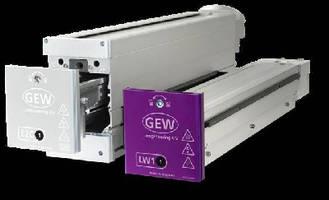 Printing Press utilizes hybrid LED UV system.