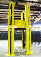 Handling Specialty Supplies Custom Four Post Lifts for Turbine and Compressor Facility
