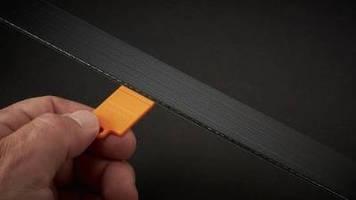 Belt Wear Gauge facilitates serpentine belt inspection.