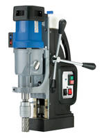 Portable Magnetic Drill features automatic feed mechanism.
