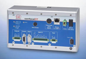 Confocal Chromatic Controller provides measuring rates to 25 kHz.