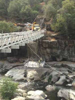 Spider Provides Float Platform for California Bridge Maintenance