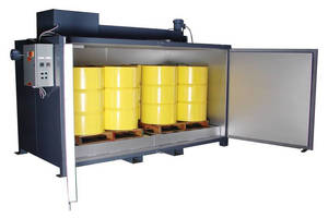 Drum/Tote Oven safely heats flammable materials.