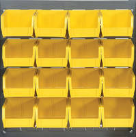 Louvered Panel Systems include plastic bins.