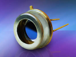 Photodiode features 4.1 mm diameter active area.