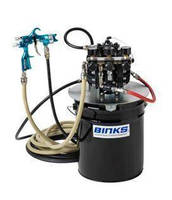 Air Operated Diaphragm Pump serves single spray gun applications.