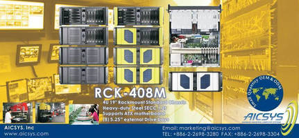 DVR 4U Rackmount Surveillance Chassis for Security Monitoring System with 8 Drive Bays