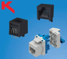 Modular RJ45 Jacks serve PCB and panel applications.