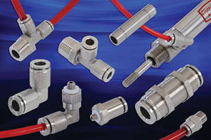 Stainless Steel Fittings connect pneumatic components, piping.