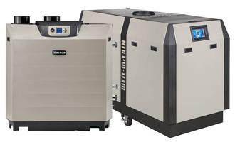 Low-NOx Emission Condensing Gas Boilers achieve high efficiency.