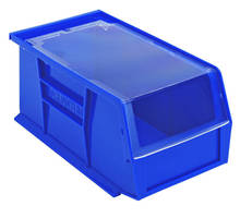 Hinged Bin Covers keep contents safe and visible.