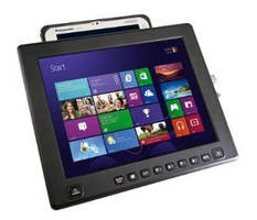 Flat Panel Display provides dock for Panasonic Toughpad FZ-M1.