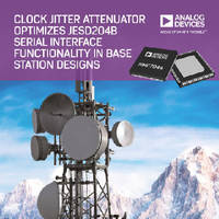 Clock Jitter Attenuator supports JESD204B interface standard.