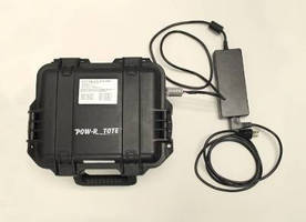 Portable Power System offers multiple charging options.