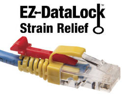 Strain Relief secures network cables from tampering.