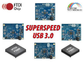 Evaluation Boards support SuperSpeed USB-to-FIFO bridge ICs.