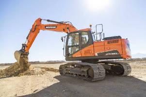 Crawler Excavator complies with Tier 4 emission standards.