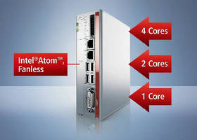 Industrial PC features multi-core Intel® Atom(TM) technology.