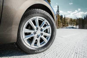 Automotive Tire handles varying road conditions.