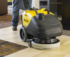 Compact Floor Scrubber cleans up to 16,000 sq-ft per hour.