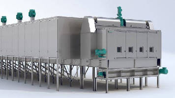 Industrial Dryer processes up to 100 tons per hour.