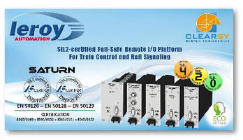 SATURN: SIL2-certified Fail-safe Remote I/O System Architecture for Trains