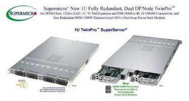 High-Availability 1U Servers deliver full redundancy.