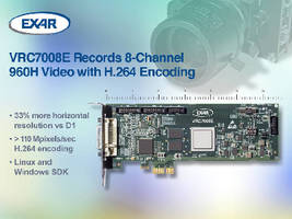 DVR PCIe Card supports video surveillance applications.