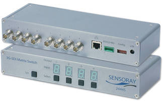 Sensoray Highlights Model 2444 HD-SDI Video Switch, Ideal for Video Broadcasting Applications