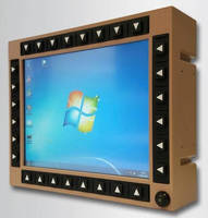 Rugged Touchscreen Display is designed for ground vehicles.