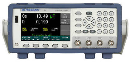 Bench LCR Meter offers sweep and bin sorting functions.