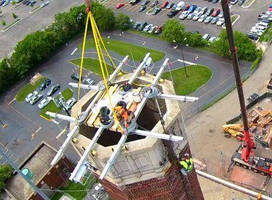 Spider Provides Access for Chimney Stack Maintenance