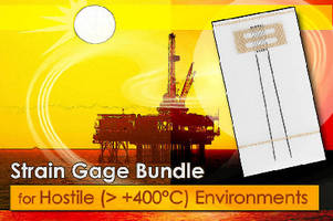 Strain Gage Bundle supports applications above +400°C.