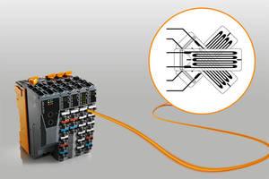 Analog Input Modules digitize strain gauge signals.