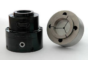 Wrench Operated Collet Chuck features 6 in. diameter capacity.