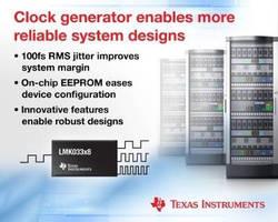 Clock Generators provides ultra-low jitter of 100 fsec.