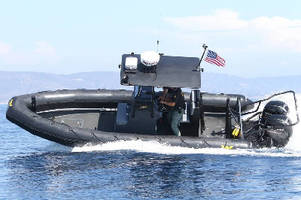 Fiberglass Rigid Hull Inflatable Boat aids first responders.