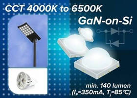GaN-on-Si LEDs promote luminous efficacy and reduce power draw.