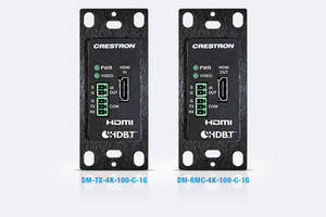 Crestron Now Shipping Industry's First and Only Single-Gang 4K Transmitter and Receiver/Room Controller