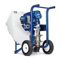 Piston Pumps handle cementitious fireproofing materials.