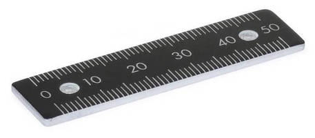 Mountable Aluminum Metric Rulers feature etched markings.