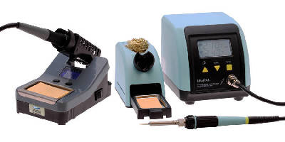 Soldering Stations feature ESD-safe design.