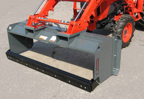 Snow Pusher Attachment reduces overhead hand shoveling.