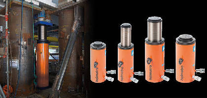 Double-Acting Locknut Cylinders feature low closed height.