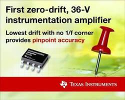 Zero-Drift Instrumentation Amplifier enables precise measurement.