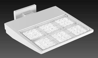 Asymmetric LED Luminaires brighten large open spaces.