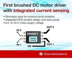 Brushed DC Motor Driver has integrated current sensing.